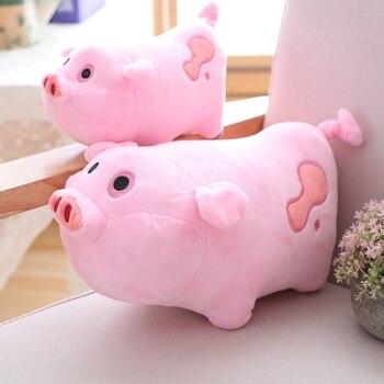 1 pc 30/40 cm de Gravity Falls Kawaii Brinquedos de Pelúcia Bonito Porco Cor de Rosa Ginga Macio Porco Dos Desenhos Animados bonecos de Pelúcia Brinquedos para Crianças festa de Aniversário presentes