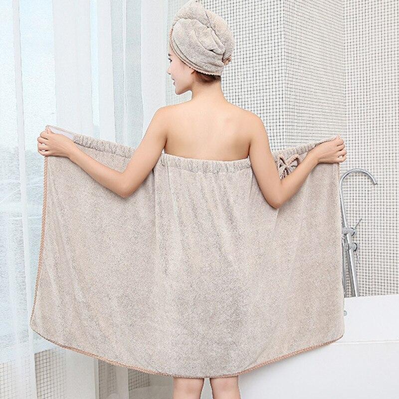 Women's Microfiber Bath & Hair Towels Set 4