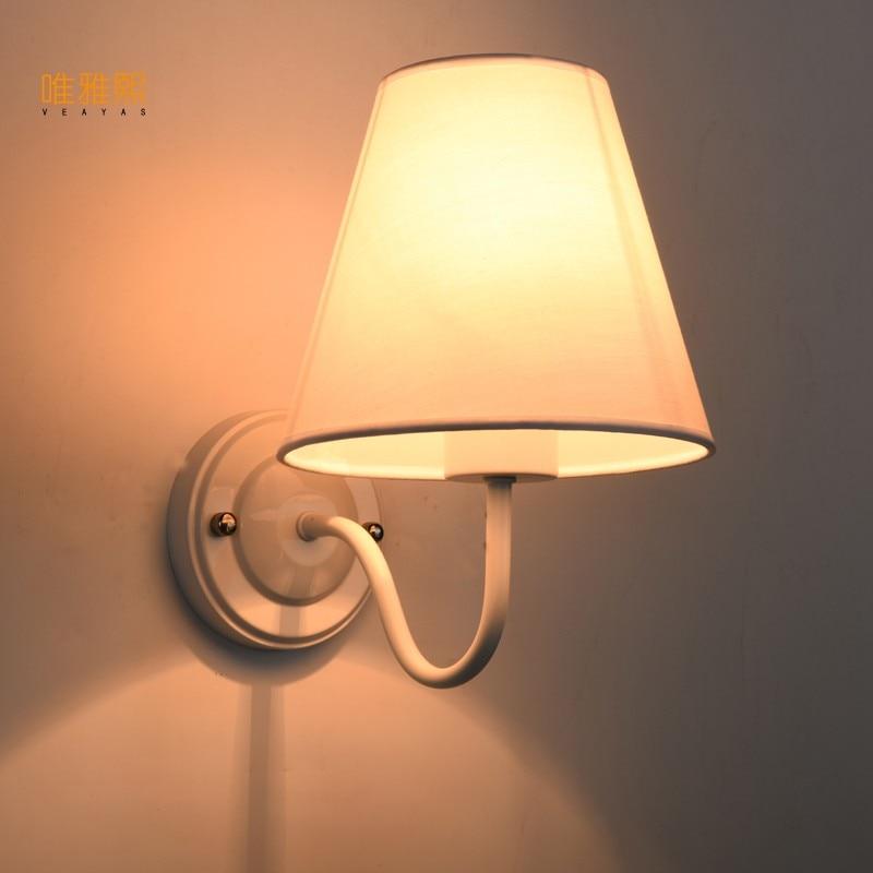 Modern LED Cloth Wall Lamp Wall sconce Light Hallway Bedroom Bedside Light flaxen/black/white
