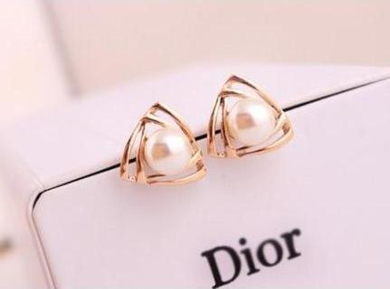 2017 Fashion Gold Stud Earring Pretty Gift S Kids Quality Pearl Earrings
