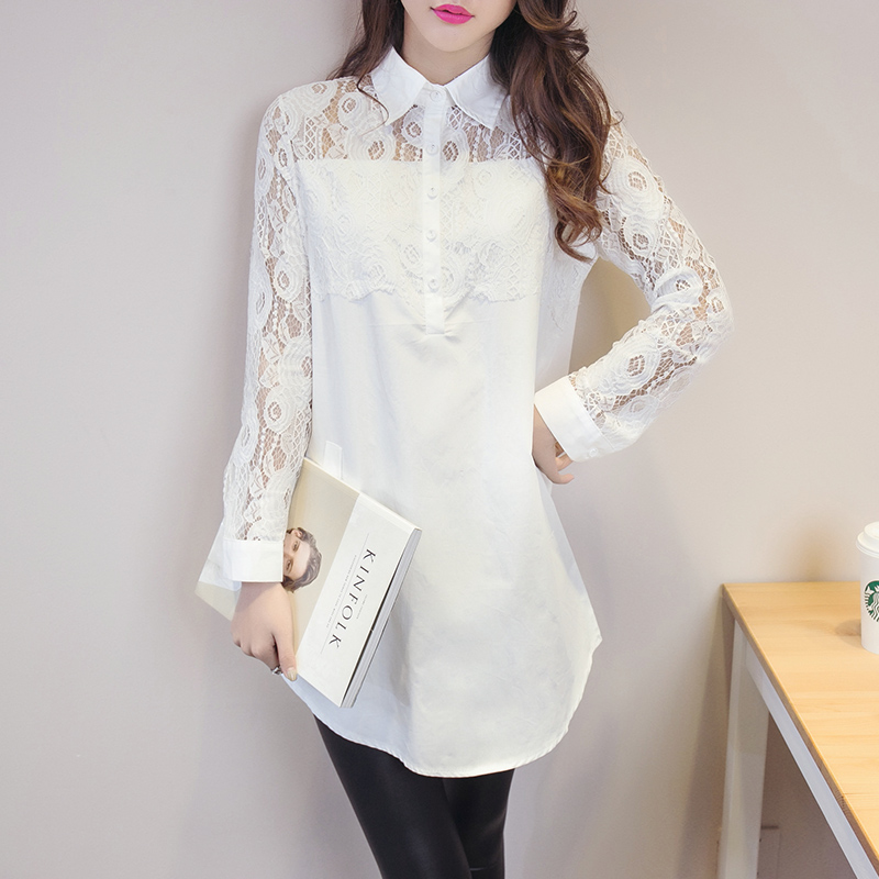High Quality Womens Blouse Long Sleeve White Blouses