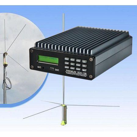 Czh Cze-15b 0-15w Premium Sda-15b Pc Control Fm Broadcast Transmitter Broadcast 1/2 Antenna Tnc Kit Home Audio & Video Radio & Tv Broadcast Equipments
