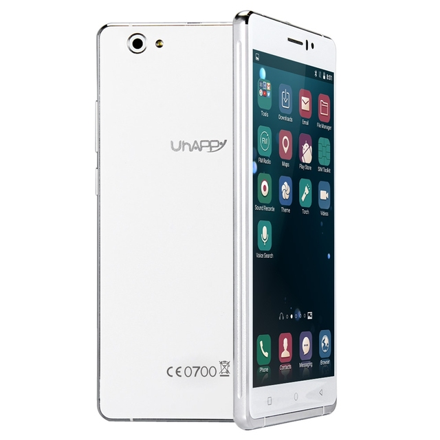 UHAPPY UP580 6.0 inch Smartphone Android 5.1 MTK6580 Mobile Phone Quad Core 1.3GHz GPS 8GB ROM 8.0MP + 5.0MP Camera Cellphone