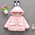 2016 hot sale the winter warm comfortable outerwear infant toddler cartoon rabbit shaped baby clothing snow wear