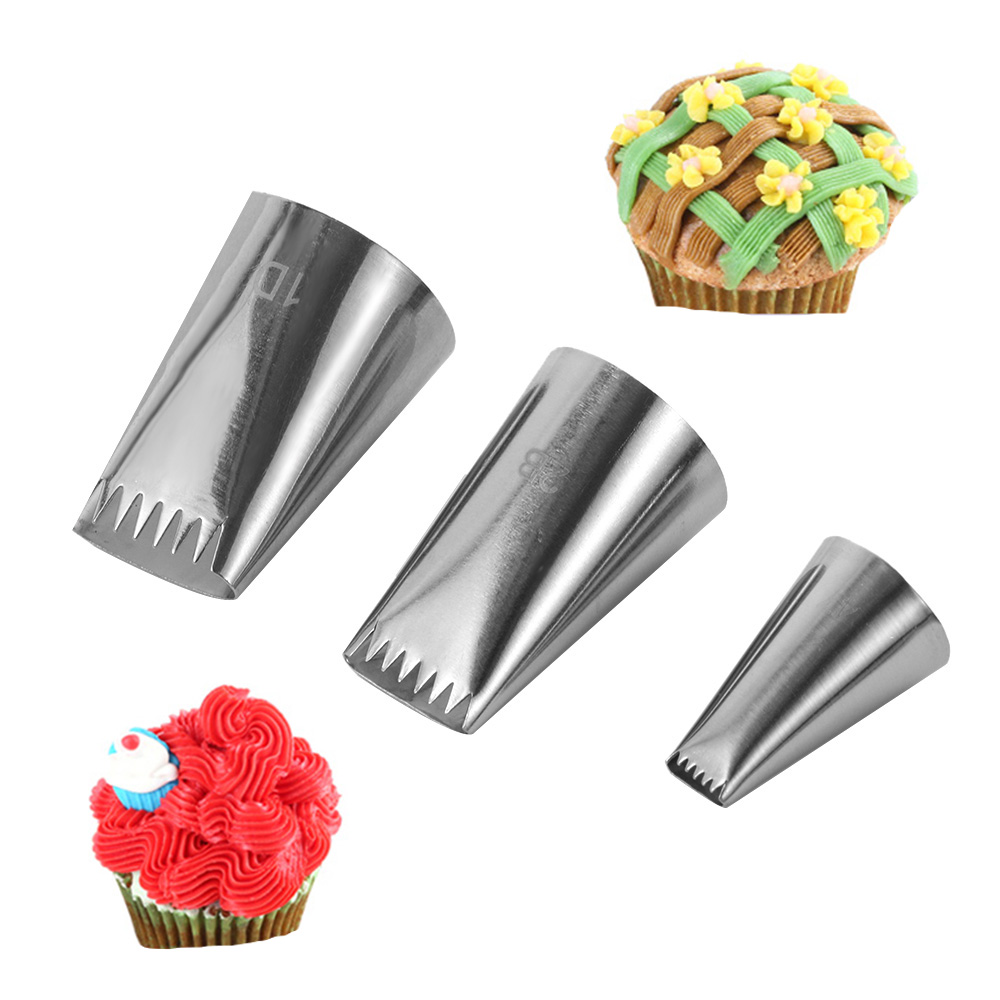 Tips Cupcake Ice Cream Tool Cake Decorating Baking Mold Icing Piping Nozzles YS