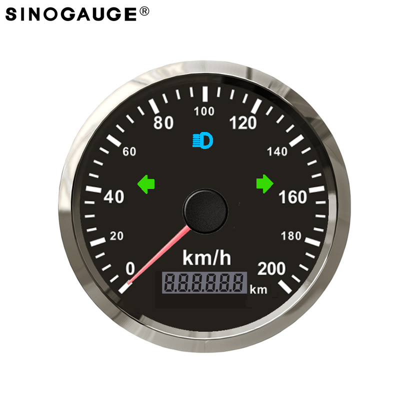 Universal 85mm GPS Speedometer Stainless IP67 Waterproof Kus Gauge 200km/h kph 125km/h mph for Car Truck 12V 24V датчик kus 12v 24v