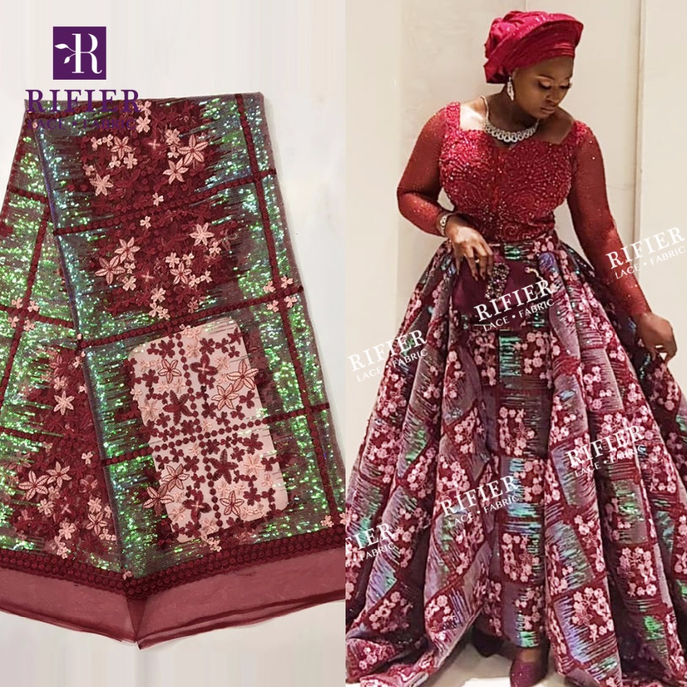 Latest News In Nigeria: 2019 Latest Design Sequins Net Lace African French Mesh
