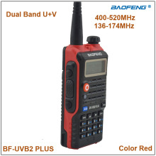 2015 Baofeng BF-UVB2Plus Walkie Talkie Dual Band VHF&UHF Baofeng BF UVB2 Red Color 5W Radio with 1200mAh Li-ion Battery