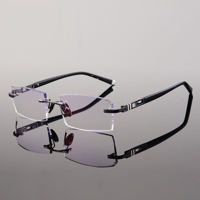 frameless eyeglass frames gold eyeglass frames for men rimless ...