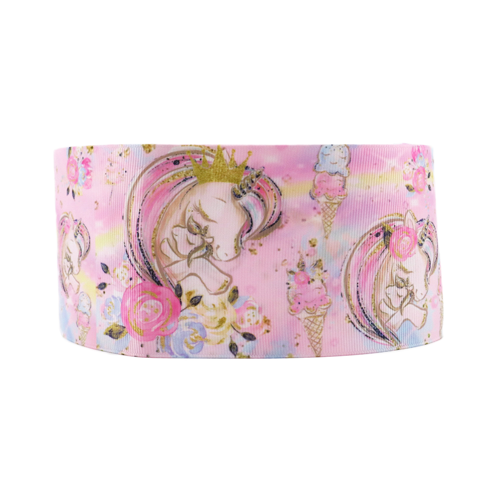 David accessories 3 summer unicorn flower ice cream watermelon cake dots grosgrain ribbon 50ys DIY handmade