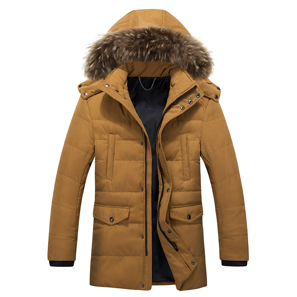 MIZEER 2017 New Brand Design Men Fashion Winter Hooded Jacket 3XL Warm Casual Coats Fur Collar Long Parka Male Clothing  мужской пуховик brand new m 3xl men warm coats