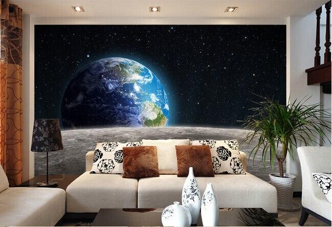Personalizzato papel de parede para sala, universo 3d murales per la ...