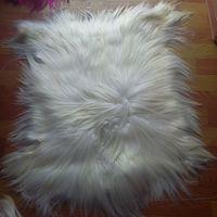 Kidassia long hair goat fur rug real fur blanket genuine goat fur plate