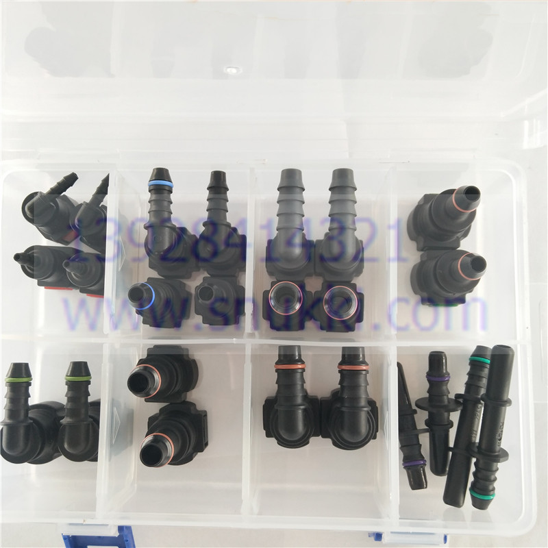 Haute qualité SAE Urée Carburant tuyau raccords un ensemble auto Carburant ligne rapide connecteur en plastique raccords kit ensemble total 24 pcs