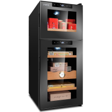 лучшая цена Electronic Control cigar humidor cooler mini Cabinet Small Household cigar cooler Refrigerator& tea cooler cabinet