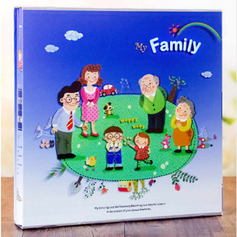 640 Sheets Photo Album with Gift Box General Interleaf Type Children Photo Album Transparent PVC Pages for 5 6 7 8 Inch Picture