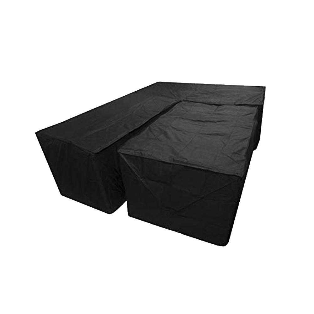 New 2Pcs Waterproof Dustproof L Shape Dust Cover Cube Corner Furniture Sofa Rattan Cover For Outdoor Garden Easy To Clean-in All-Purpose Covers from Home & Garden