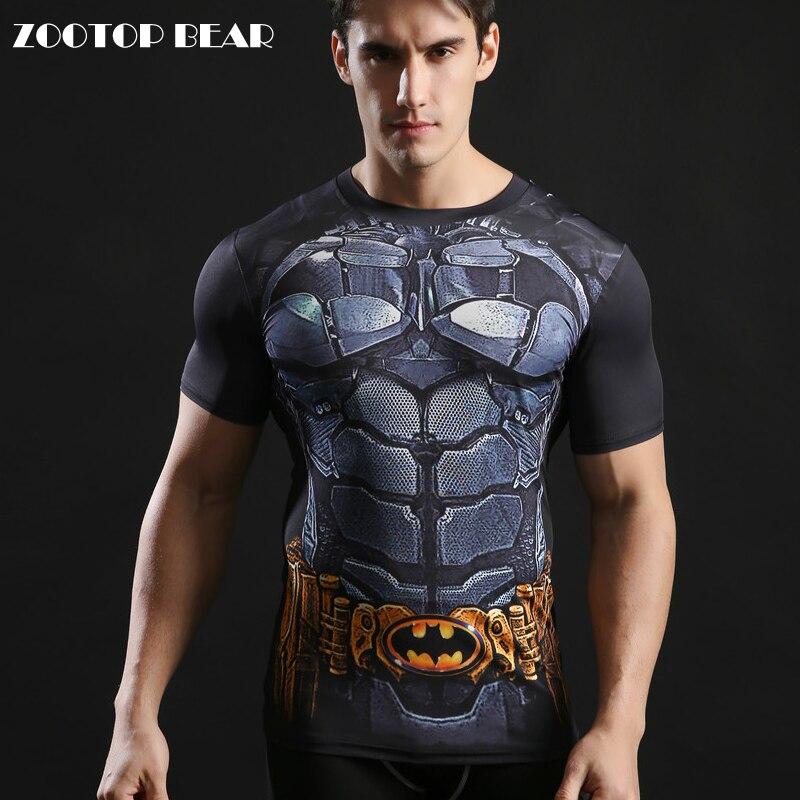 1450cd585973b Batman Tops Compression drôle T-shirts Remise En Forme Super-Héros Superman  T-shirts 2017 D été Col Rond 3D Imprimé t-shirt ZOOTOP OURS
