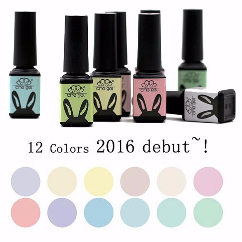 12colors 5ml Che gel Macaron nail polish Long lasting environmental ...