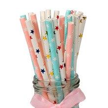 25 sztuk papierowych rurek do napoi STAR