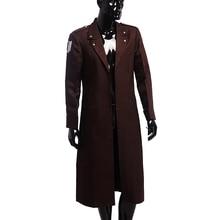 Attack On Titan Cosplay Survey Corps Eren Rivaille Ackerman Costume Men's Wear Overcoat Dust Coat все цены