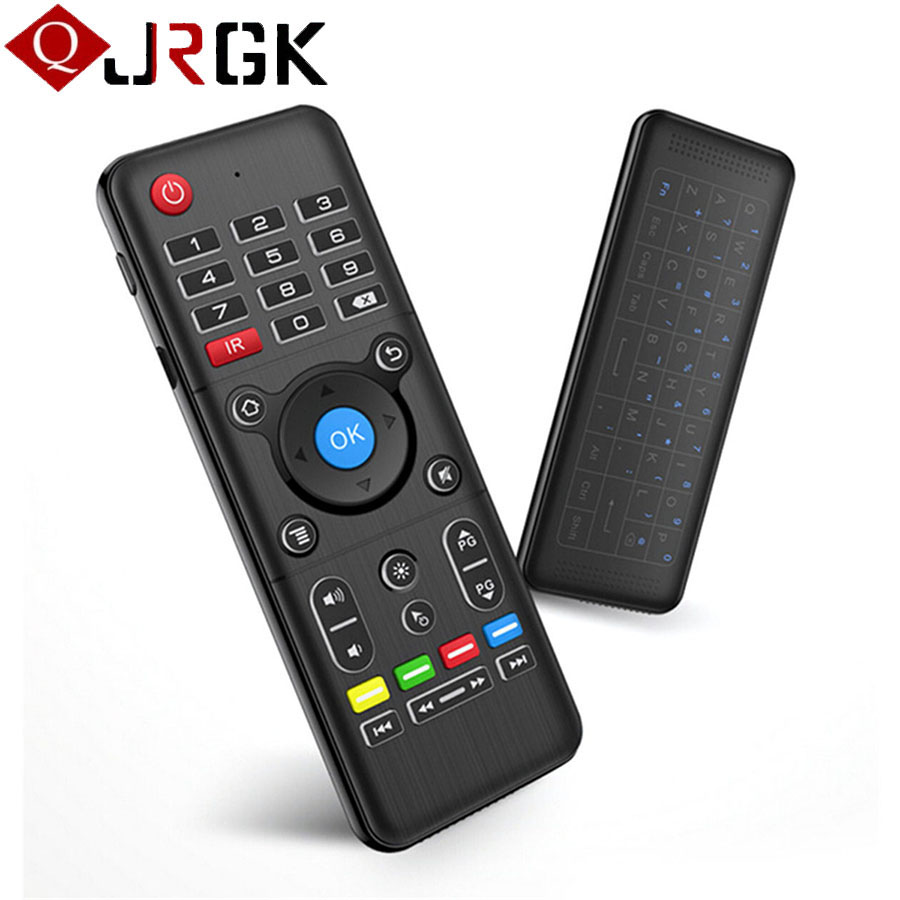 2.4GHz Wireless IR Fly Air Mouse Full Touchpad Keyboard TV Remote Control With Backlight For Android Window Linux Box Controller