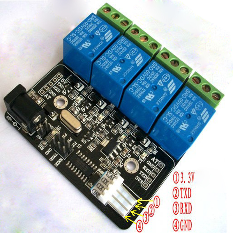 Serial TTL 4 way relay control board in Relays from Home Improvement