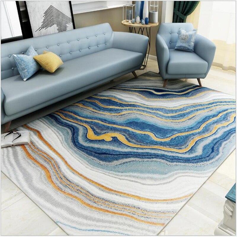 Tapis de luxe lumière abstraite AOVOLL pour salon canapé Table basse tapis nordique chambre tapis et tapis modernes grand tapis
