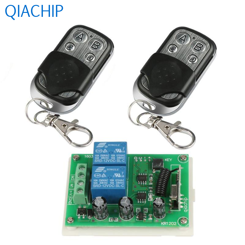 2pcs 433MHz RF Remote Control Switch Transmitter and 1pc Dual Channel Wireless Remote Co ...