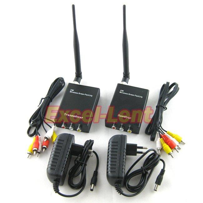 bilder für Neueste! 2000 mt 2 watt 2,4g wireless av video wireless transceiver für cctv, sender und empfänger (sender & empfänger)