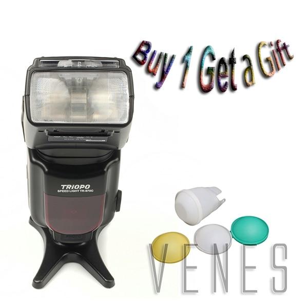 купить Hottt buy 1 get 1gift!!!! TR-970 Flashgun Speedlite work For Canon Camera 760D 750D 5DS(R) 5D Mark III 5D Mark II 6D 5D 7D 70D онлайн