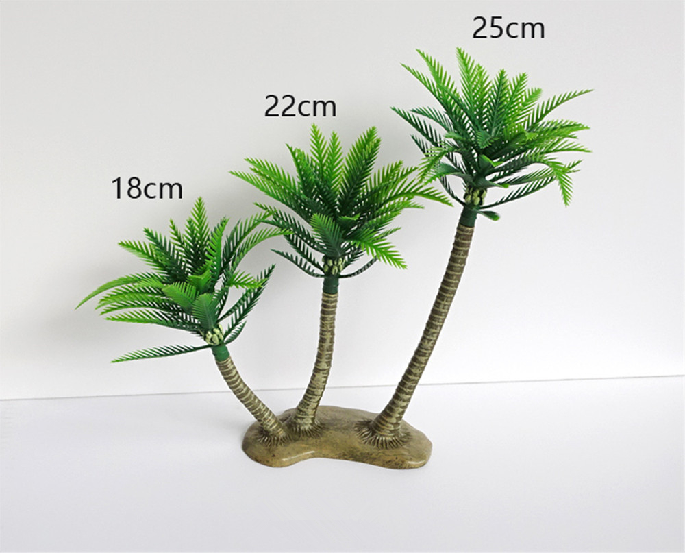 25CM Green Artificial Coconut Palm Tree Micro-Plastic Landscape Sandbox Style Palm Island Artificial Plant Decoration Artificia