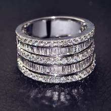 Luxury Female Small Zircon Stone Ring 925 Silver Wedding Jewelry Promise Engagement Rings For Women 2019 Valentine's Day Gifts(China)
