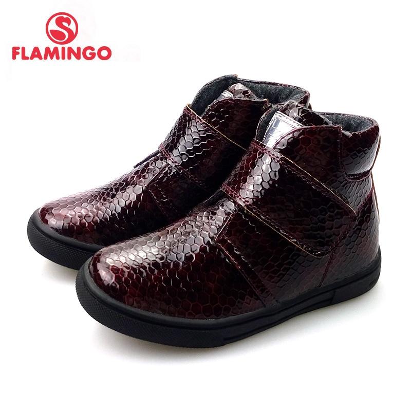 FLAMINGO Autumn Felt High Quality Red&Black Kids Boots Size 25-30 Anti-slip Shose For Girl Free Shipping 72B-JSD-0312/0311
