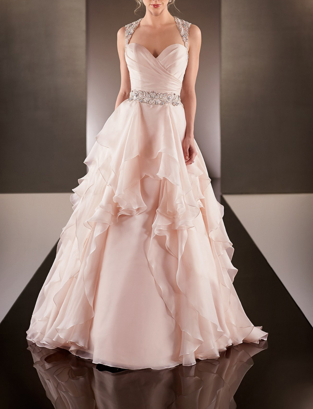 Pink Wedding Gowns with Ruffles – fashion dresses