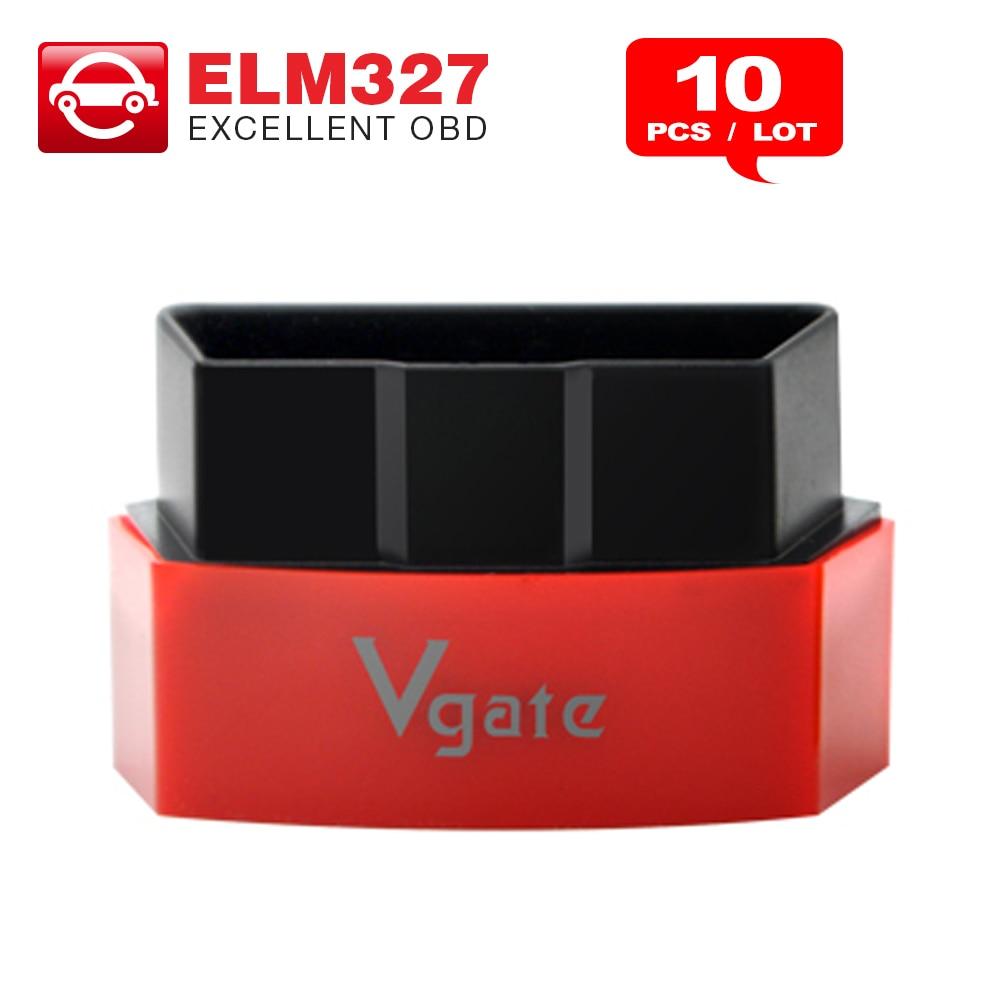 Prix pour 10 PCS Vgate iCar3 Bluetooth OBDII OBD2 ELM 327 iCar3 Interface De Diagnostic Pour Android IOS PC