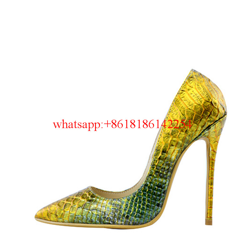 ФОТО Autumn/Spring Newest Sexy Snake Pattern Pumps Fashion Pointed Toe Pumps Women Thin High Heels Office Lady Vogue Single Shoes
