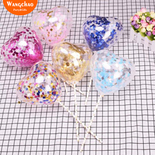 10pcs/bag Love Heart Balloon Cake Topper Happy Birthday Party Cake Decoration Kids Favors and Gifts Baby Shower Decora 6 colors 10pcs lot love heart balloon cake topper happy birthday party cake decoration kids beautiful favors and gifts baby shower decora