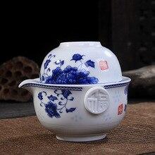 Kung Fu Tee-set Enthalten 1 Topf 1 Tasse, hohe Qualität Elegante gaiwan Tee-Set, Schön und einfach teekanne Kaffee & Tee-Sets Cup