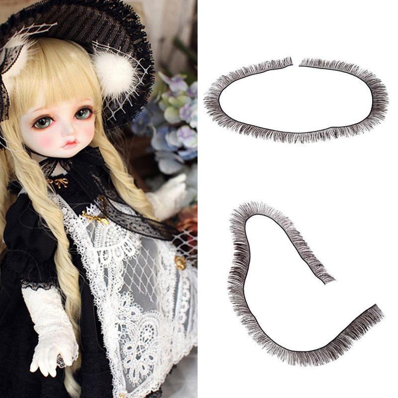 5PCS Doll Eyelashes Eye Line Strips For 1/3 1/4 1/6 BJD Dolls Or Reborn Doll Accessory Doll Big Pretty Eye Make Up Accessories