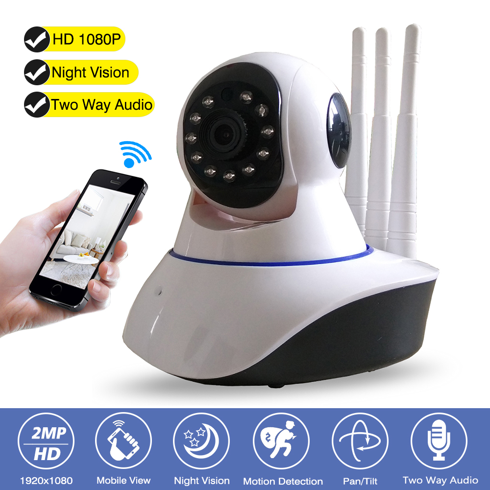 Home CCTV Surveillance Security Wifi Camera HD 1080P IP Camera Night Vision 2-Way Audio Baby Monitor Indoor 2MP Wireless Camera 2mp 1080p hd wireless intercom wifi ip camera indoor home surveillance system baby monitor