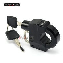 FOR HONDA VT VTX Motorcycle Universal 25mm Handlebars Helmet Lock Key Anti-thief Security Padlock Accessories