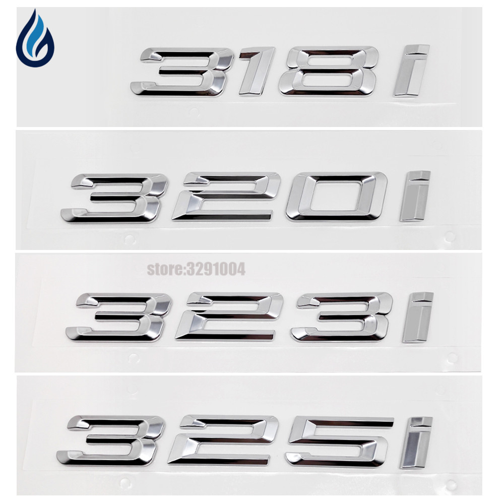 318i 320i 323i 325i Car Refit Badge Emblems Tail Decor Sticker For BMW 3 Series F30 F31 F34 E90 E21 E30 E36 E46 E90 E91 E92 E93 bmw 318 в москве