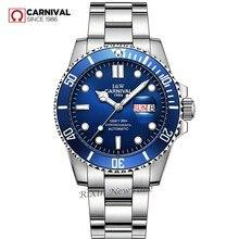 Top brand di lusso degli uomini di orologi in acciaio pieno militare diving sport degli uomini automatici orologi meccanici orologio luminoso relogio montre homme