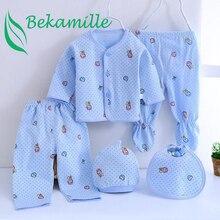 Brand 5pcs/set enfant Newborn sets baby Boys suits Baby Clothes Cotton