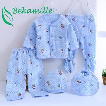 Marka 5 sztuk zestaw enfant noworodka zestawy dla niemowląt chłopców garnitury ubrania dla dzieci bawełna tanie i dobre opinie Bekamille COTTON Na co dzień V-neck Pełna REGULAR Pasuje prawda na wymiar weź swój normalny rozmiar Suknem Vest pure cotton