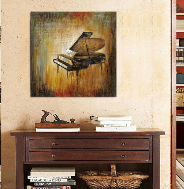 Aliexpresscom Buy Retro piano music canvas wall art home decor