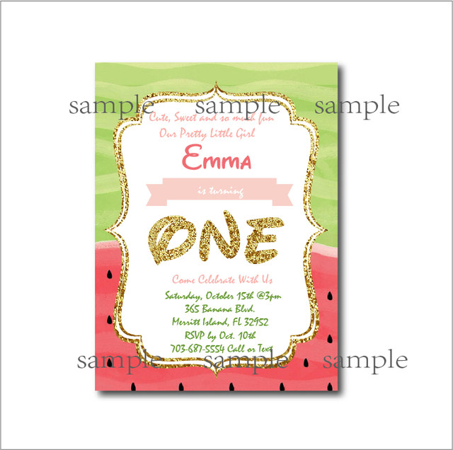 Online Shop 20pcslot Watermelon Birthday Invitations Baby shower