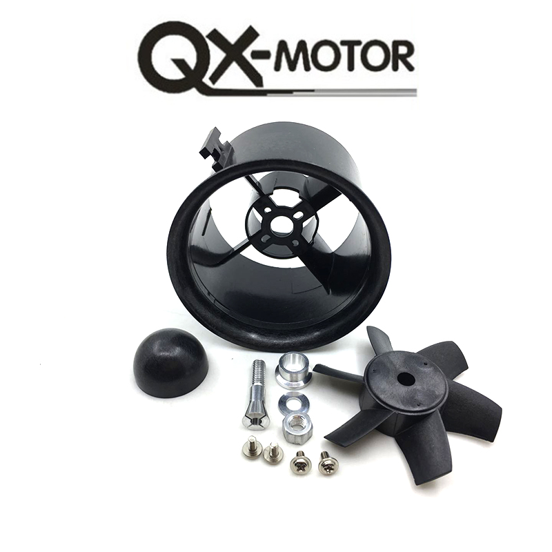 QX_MOTOR Brand 70mm EDF KIT with 6 Blades Ducted Fan Suit For RC Airplane Directly Buy from Factory