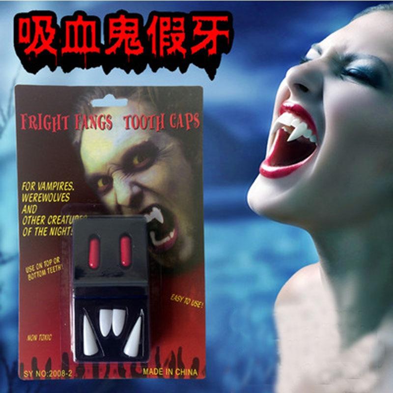 Cosplay Dentures Zombie Vampire Teeth Ghost Devil Fangs  Halloween Party Props S